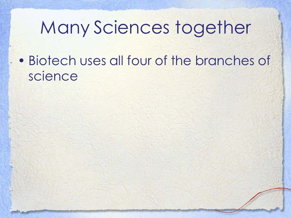 Many Sciences together