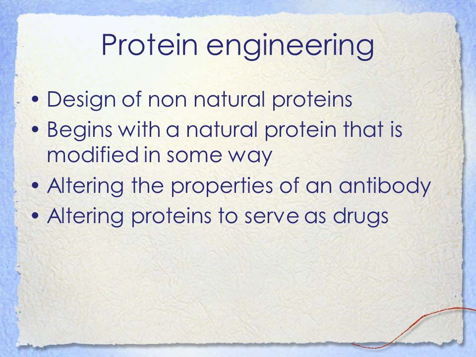 Protein engineering Design of non natural proteins