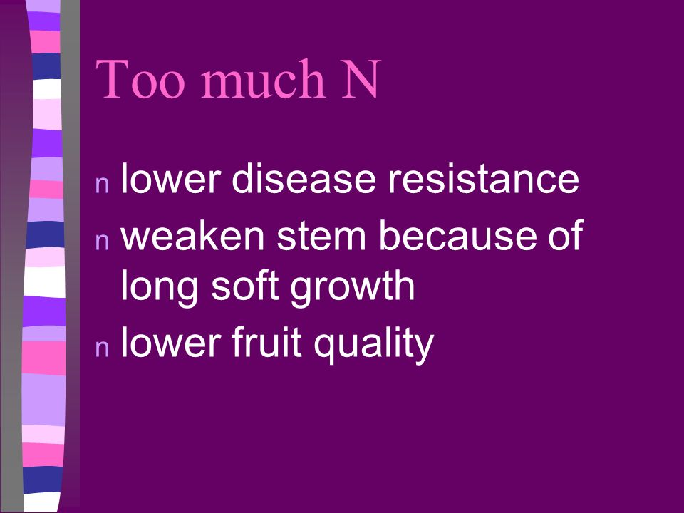 Too much N lower disease resistance