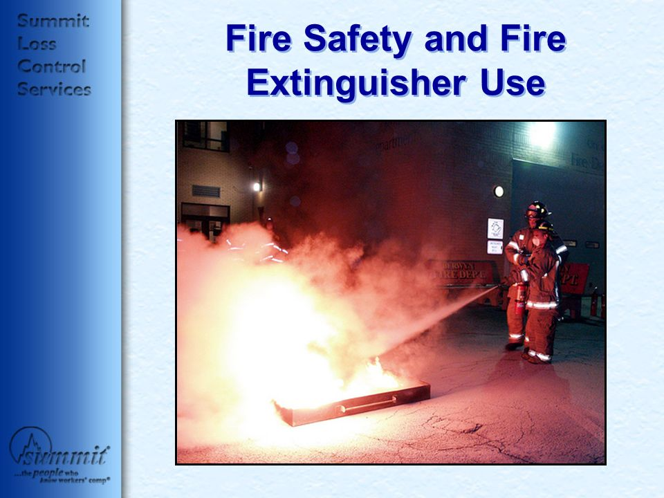 Fire Safety and Fire Extinguisher Use