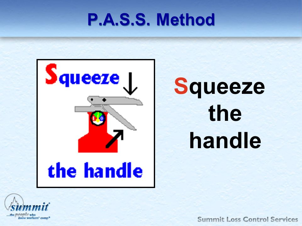 P.A.S.S. Method Squeeze the handle