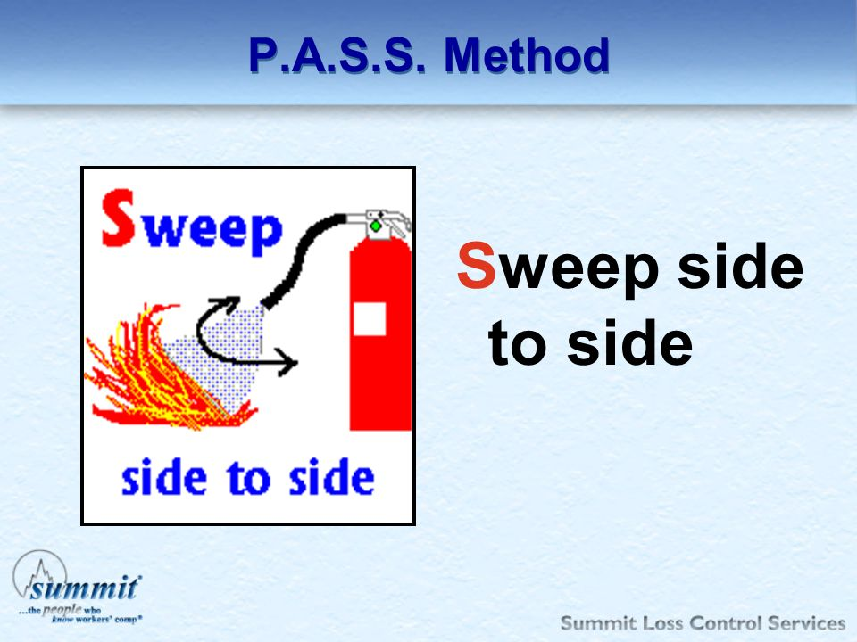 P.A.S.S. Method Sweep side to side