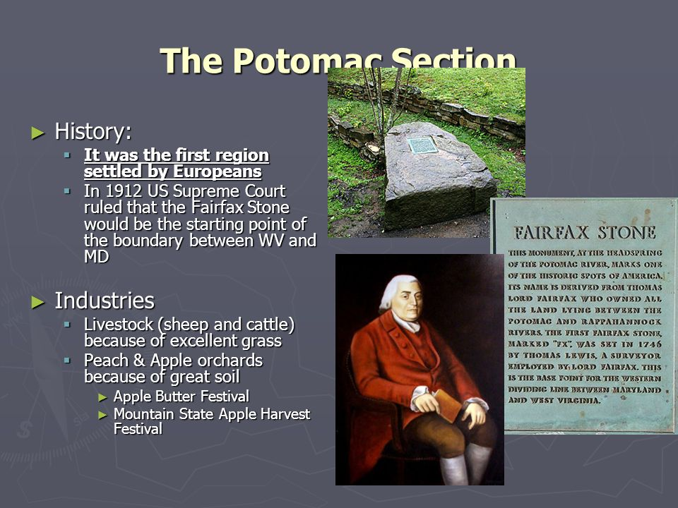 The Potomac Section History: Industries
