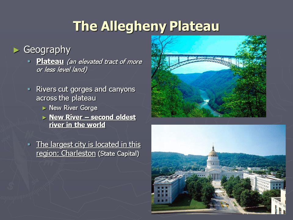 The Allegheny Plateau Geography