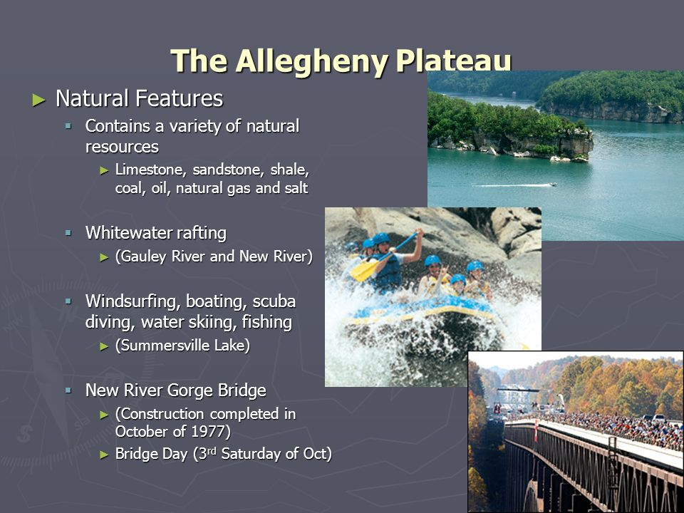 The Allegheny Plateau Natural Features