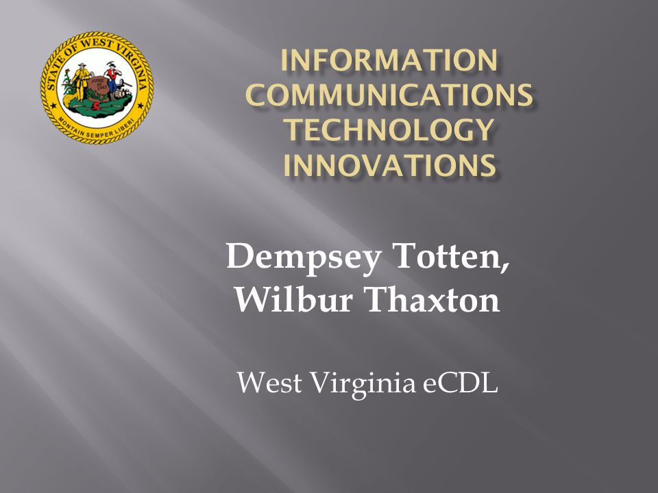 INFORMATION COMMUNICATIONS TECHNOLOGY INNOVATIONS