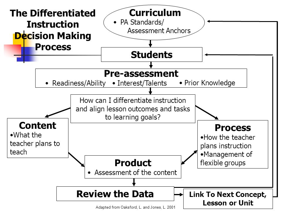 The Differentiated Instruction Decision Making Process Curriculum