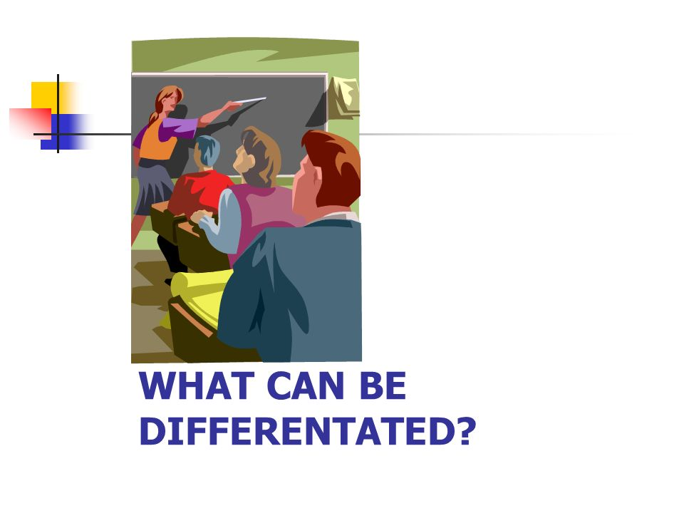 WHAT CAN BE DIFFERENTATED