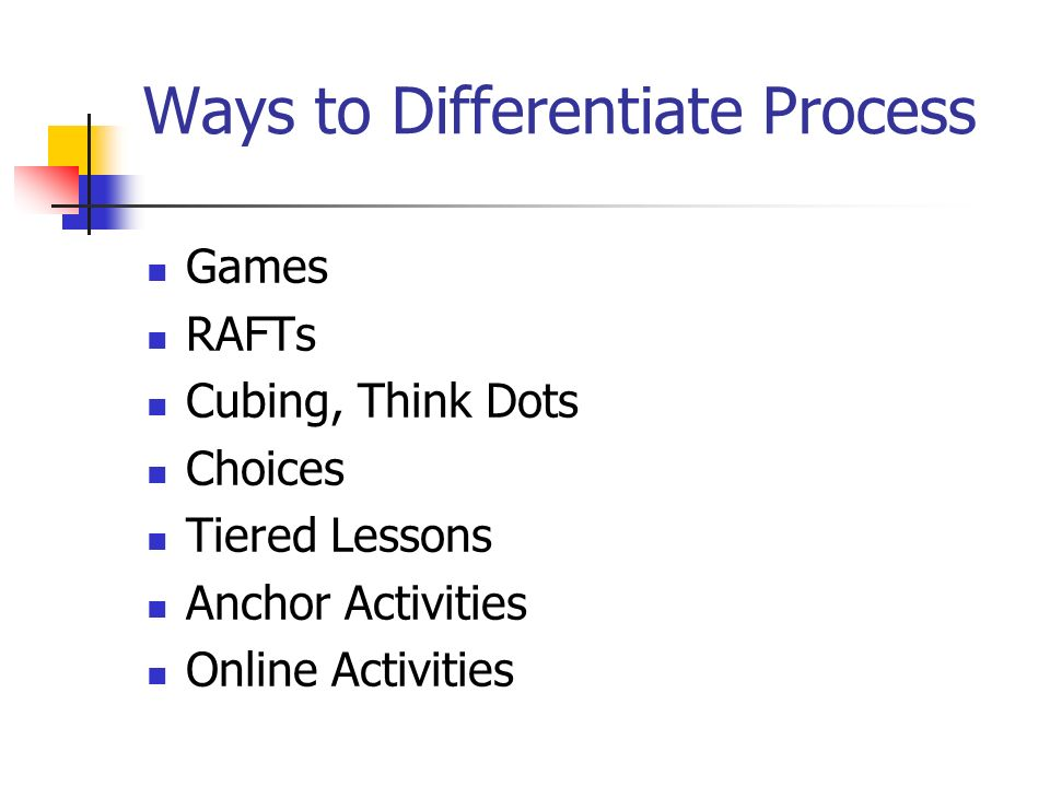 Ways to Differentiate Process