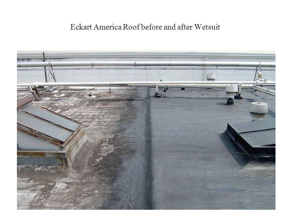 Eckart America Roof before and after Wetsuit
