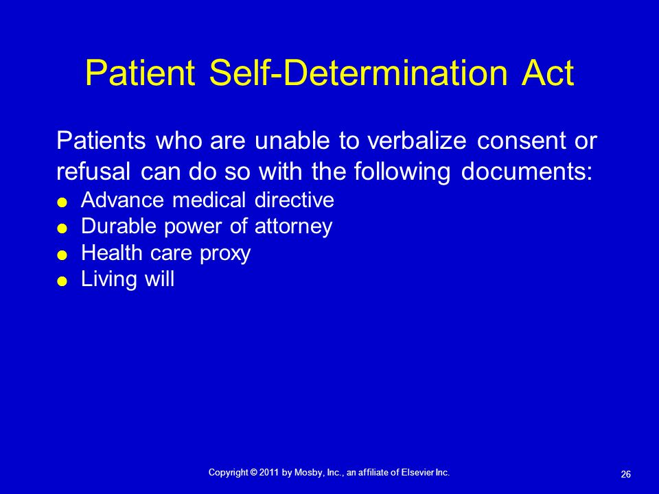 Patient Self-Determination Act