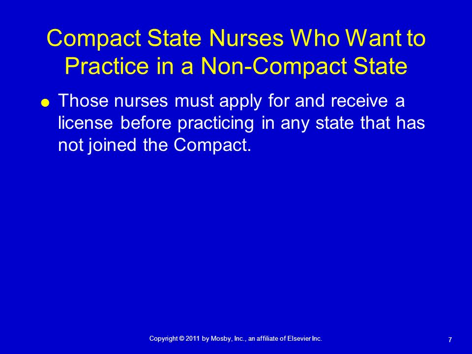 Compact State Nurses Who Want to Practice in a Non-Compact State