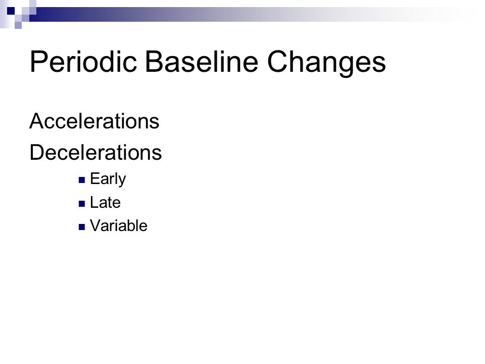 Periodic Baseline Changes