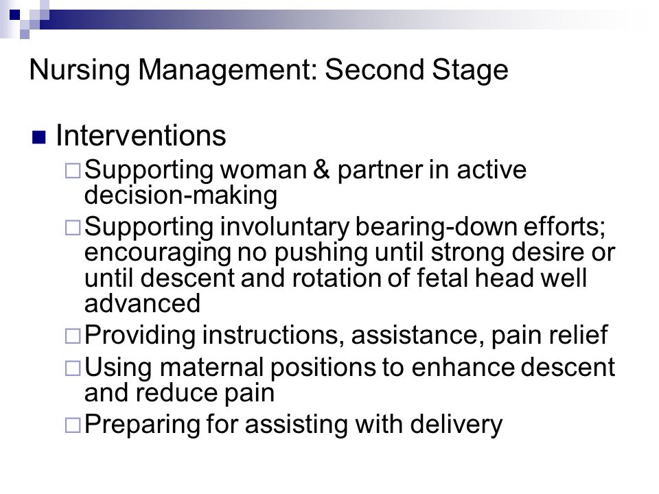 Nursing Management: Second Stage