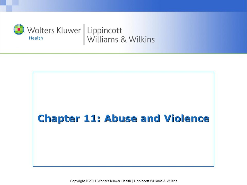 Chapter 11: Abuse and Violence
