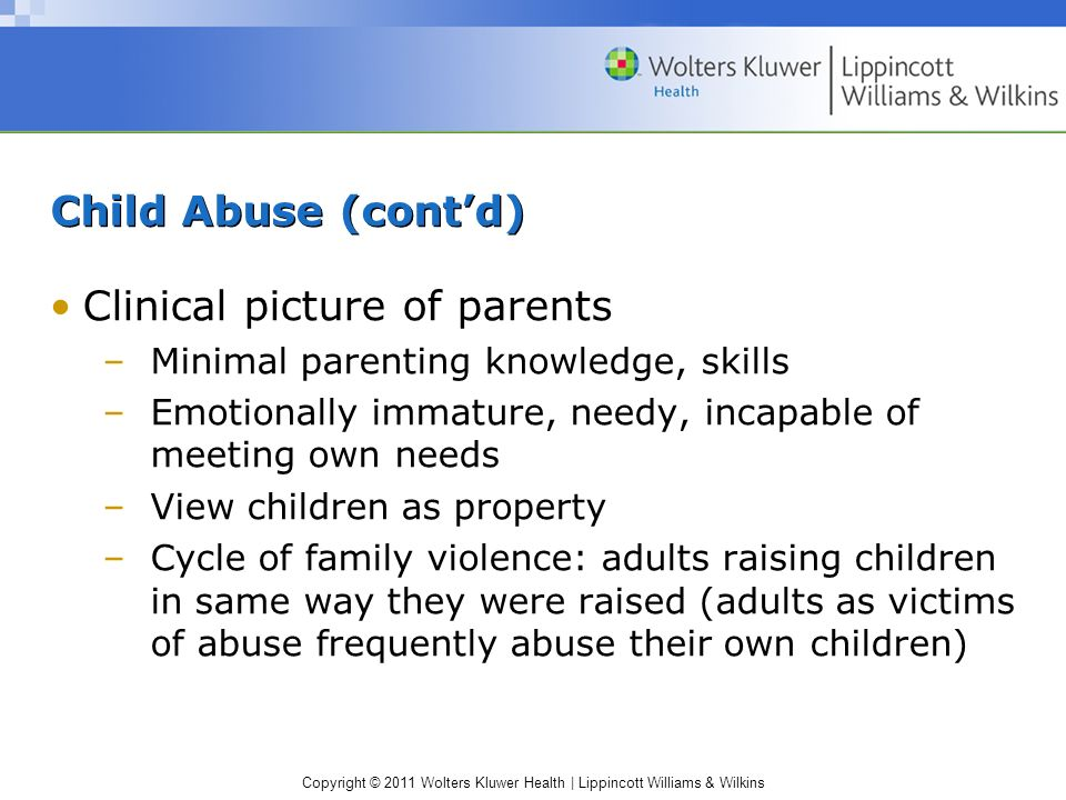 Clinical picture of parents