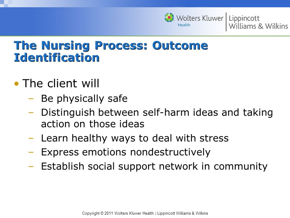 The Nursing Process: Outcome Identification