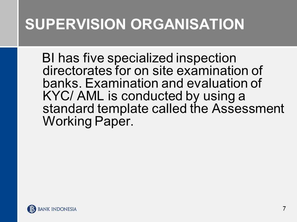 SUPERVISION ORGANISATION