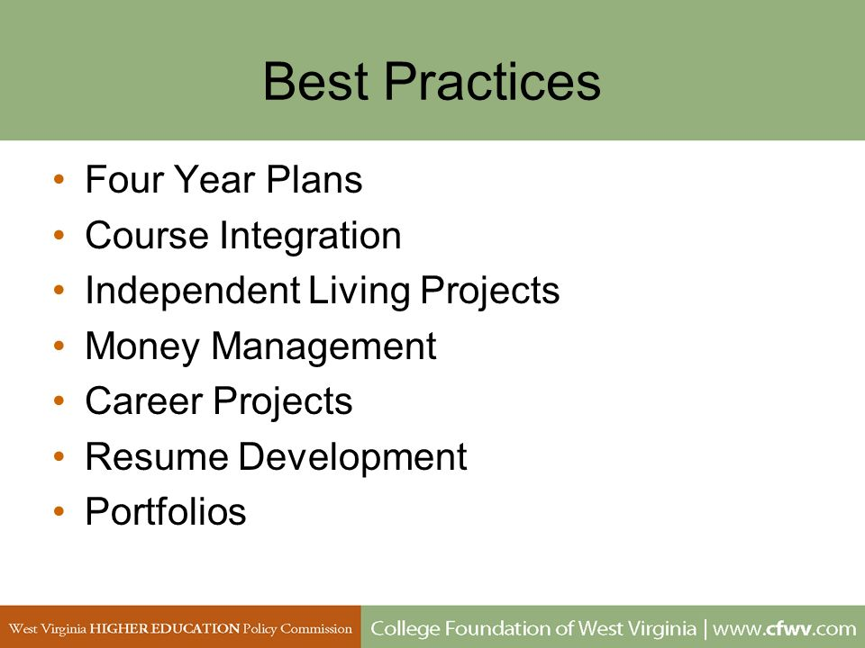 Best Practices Four Year Plans Course Integration