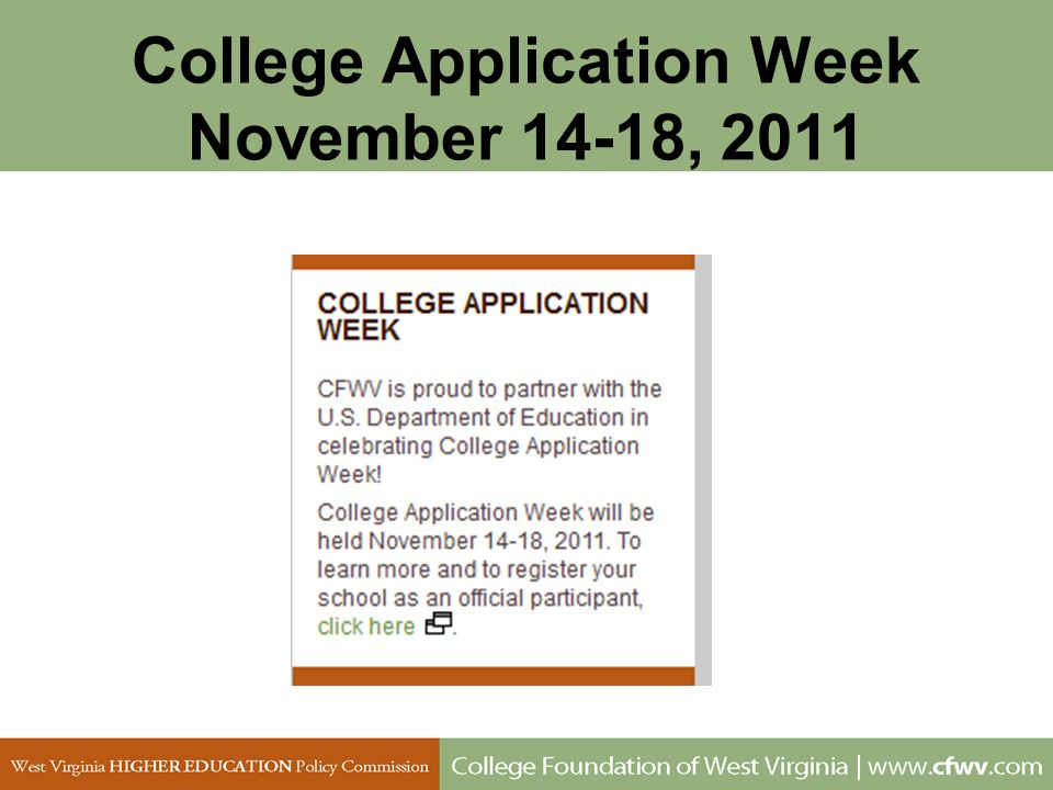 College Application Week November 14-18, 2011