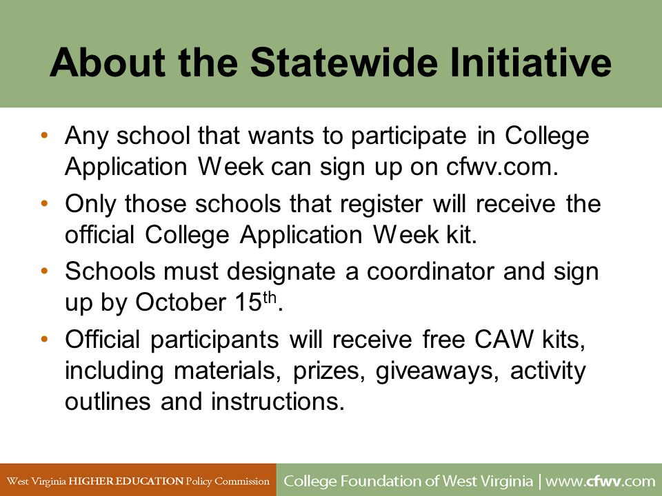 About the Statewide Initiative