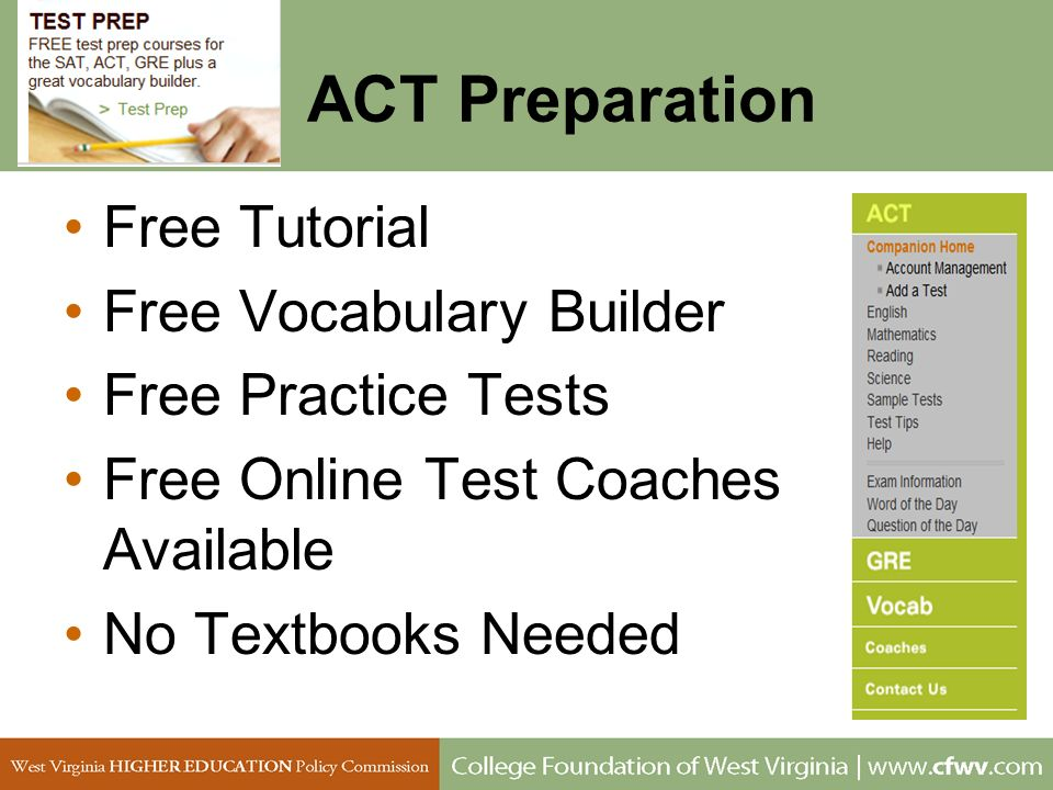 ACT Preparation Free Tutorial Free Vocabulary Builder