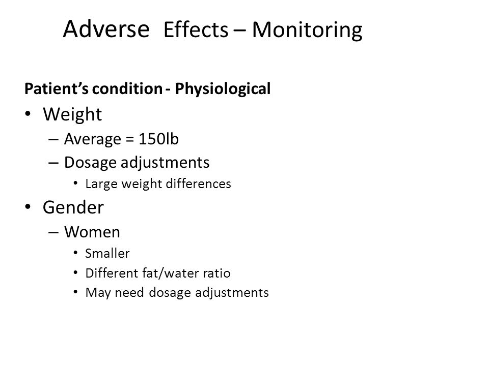 Adverse Effects – Monitoring
