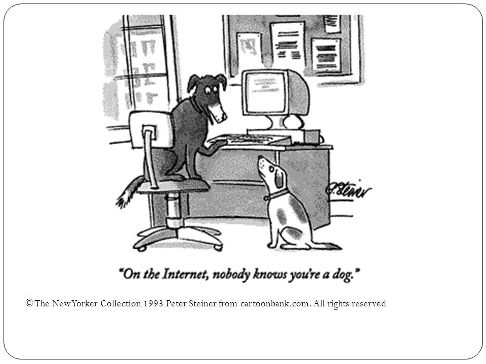 © The New Yorker Collection 1993 Peter Steiner from cartoonbank. com