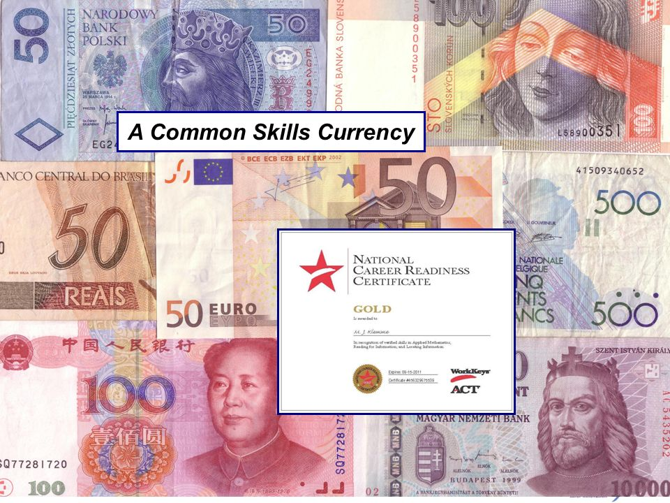 A Common Skills Currency