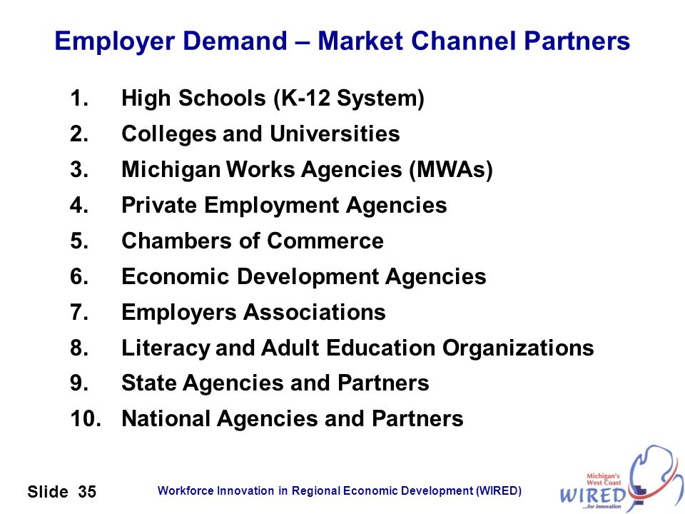 Employer Demand – Market Channel Partners