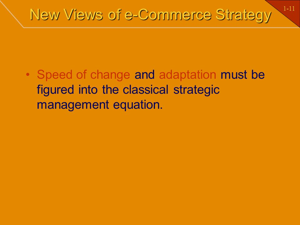 New Views of e-Commerce Strategy