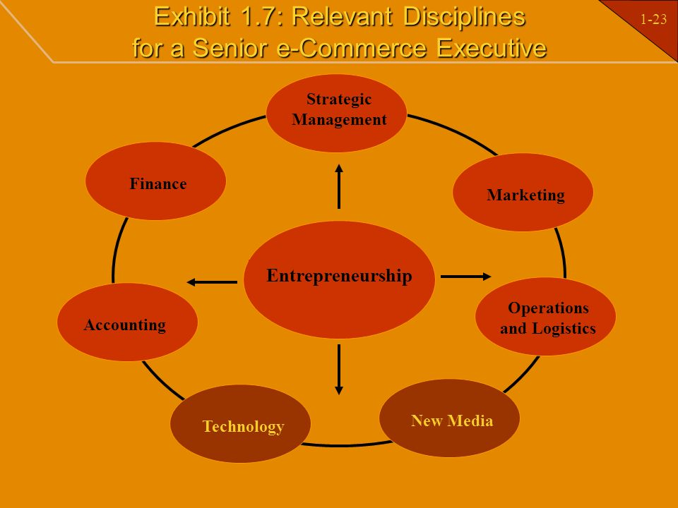 Exhibit 1.7: Relevant Disciplines for a Senior e-Commerce Executive