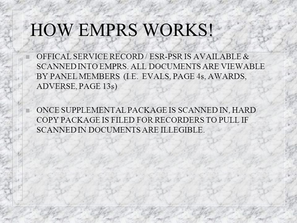 HOW EMPRS WORKS!