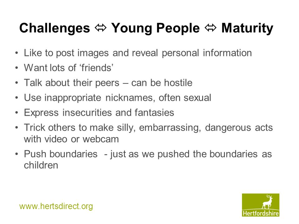 Challenges  Young People  Maturity