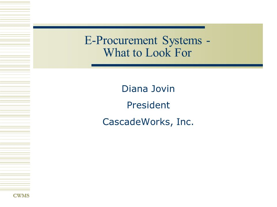E-Procurement Systems - What to Look For