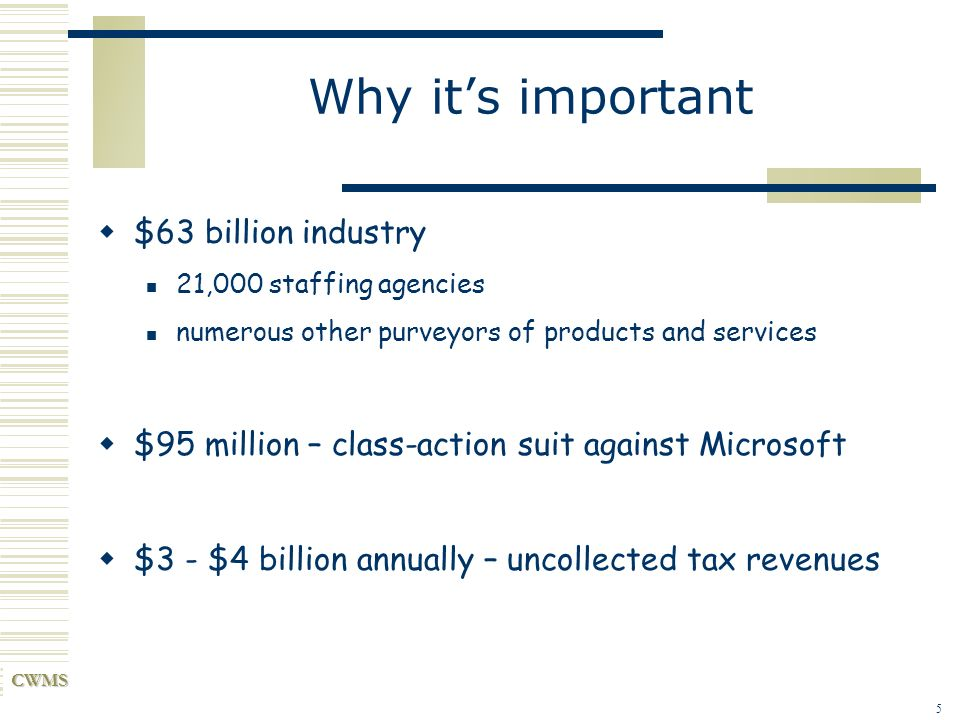 Why it's important $63 billion industry