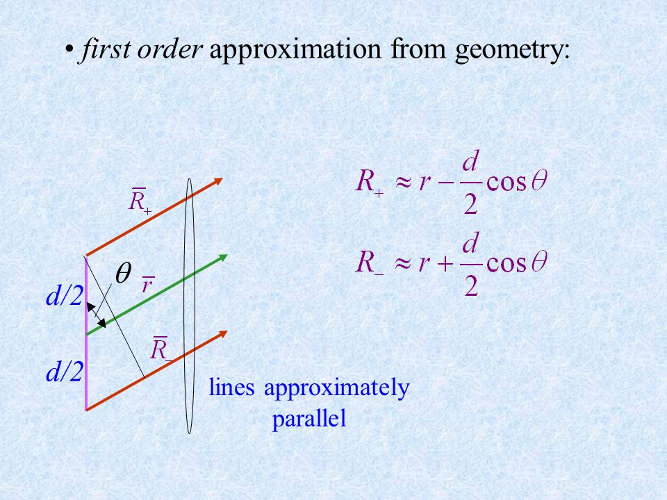 first order approximation from geometry: