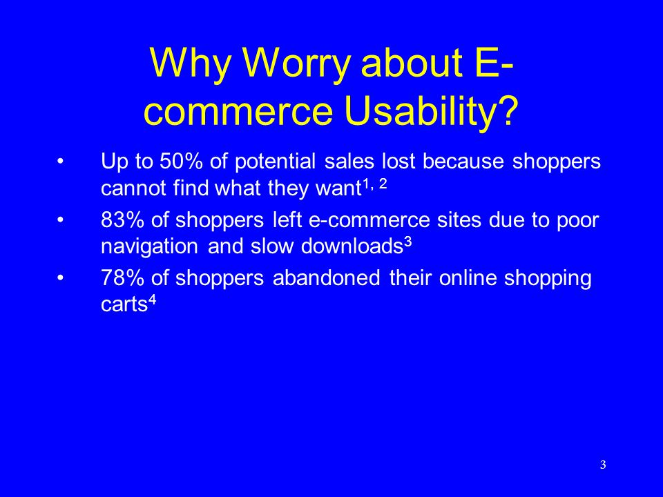Why Worry about E-commerce Usability