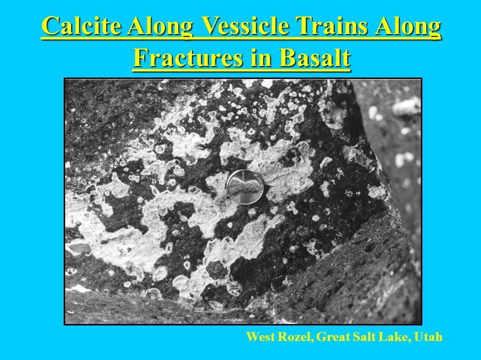 Calcite Along Vessicle Trains Along