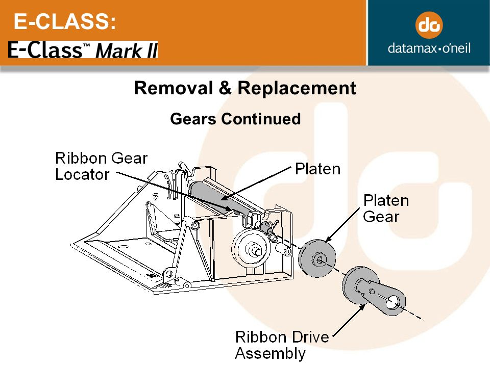 E-CLASS: Removal & Replacement Gears Continued