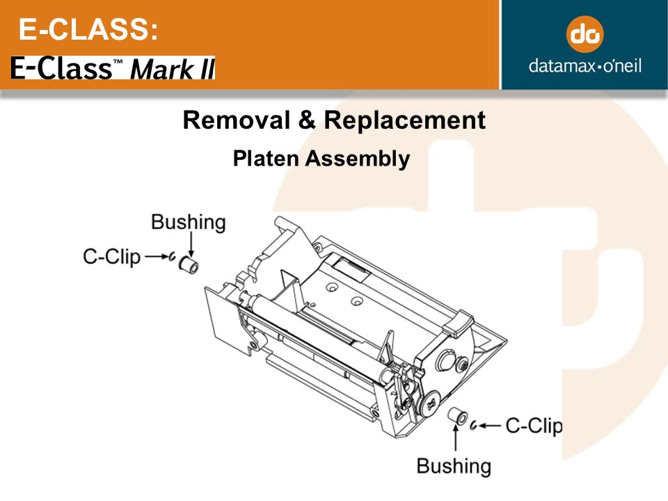 E-CLASS: Removal & Replacement Platen Assembly