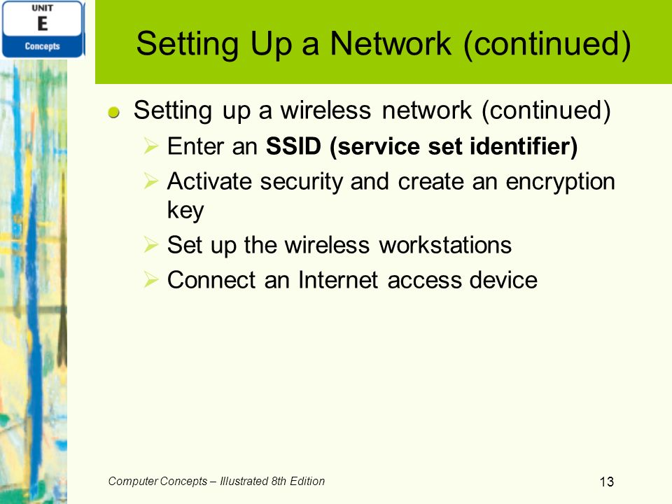 Setting Up a Network (continued)