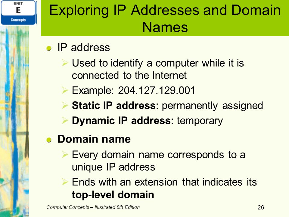Exploring IP Addresses and Domain Names