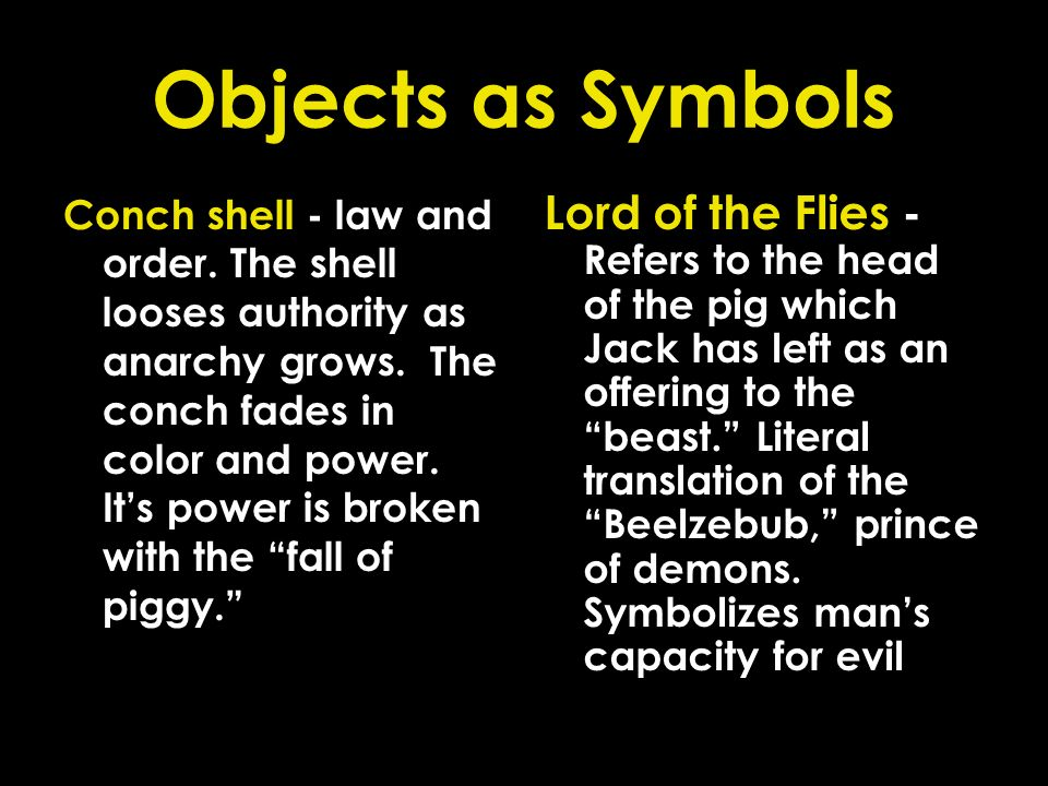 Objects as Symbols