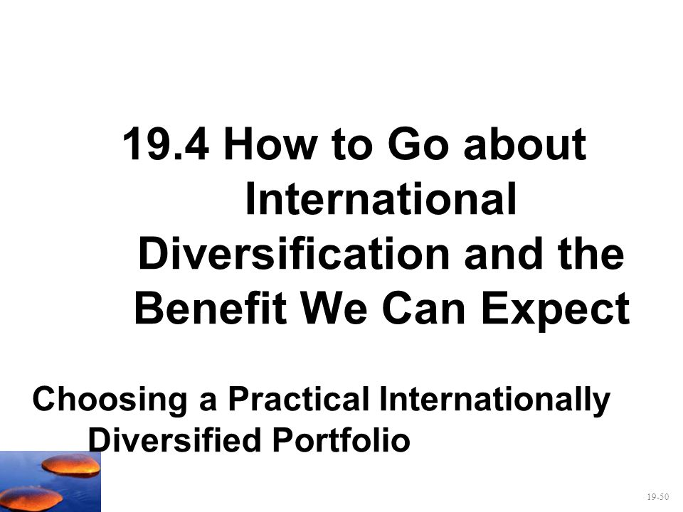 19.4 How to Go about International Diversification and the Benefit We Can Expect