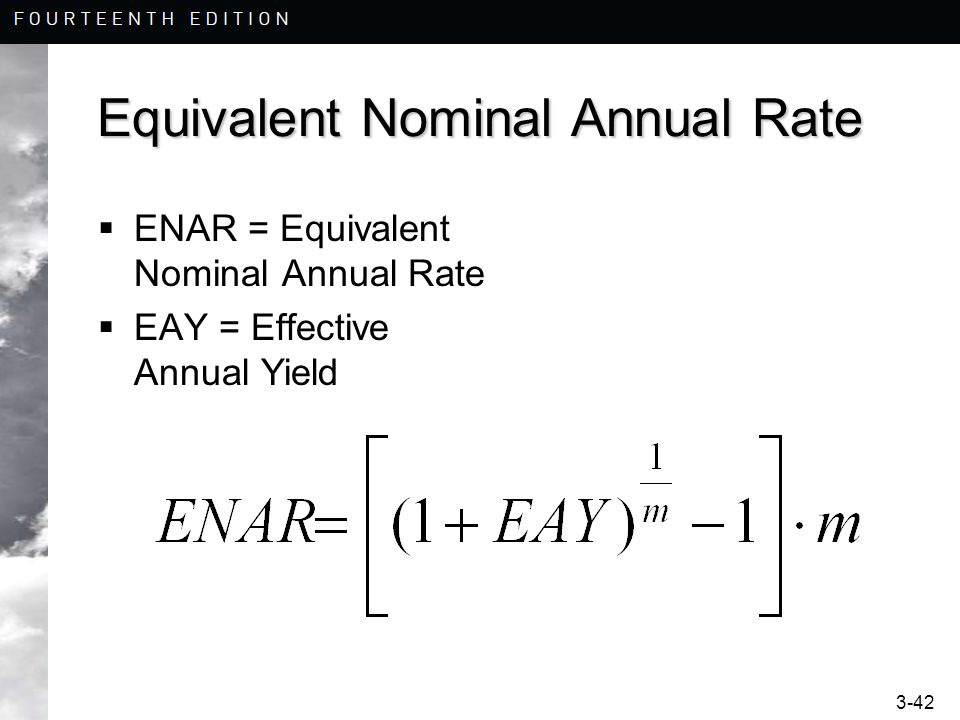 Equivalent Nominal Annual Rate