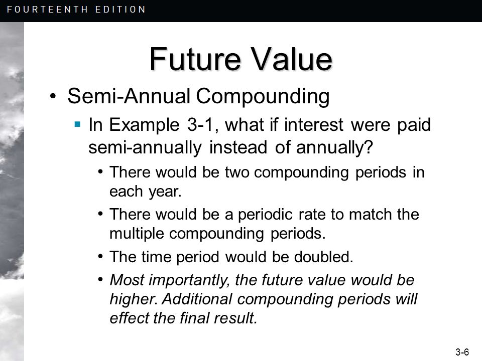 Future Value Semi-Annual Compounding