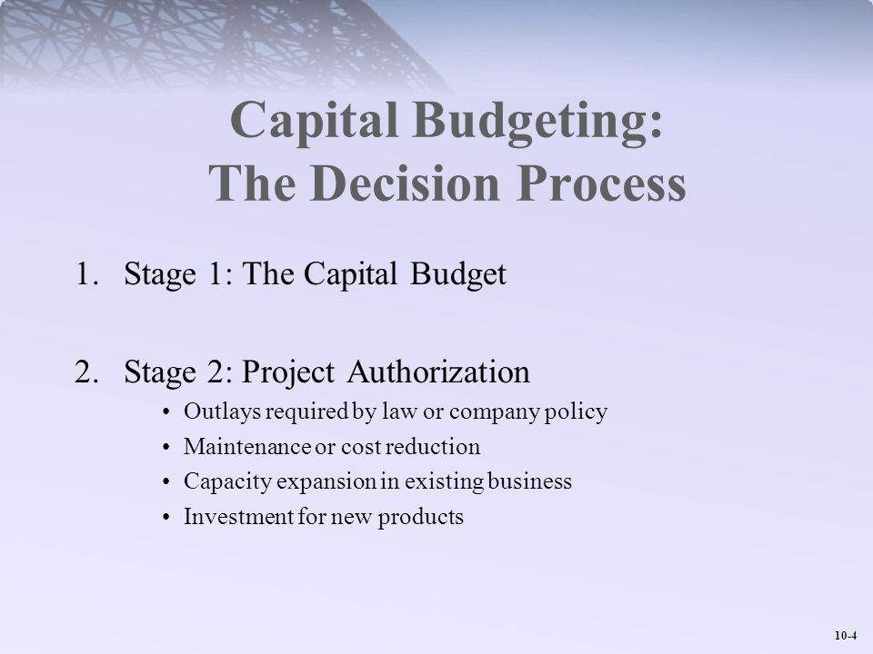Capital Budgeting: The Decision Process