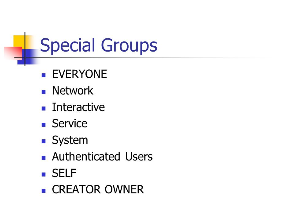 Special Groups EVERYONE Network Interactive Service System