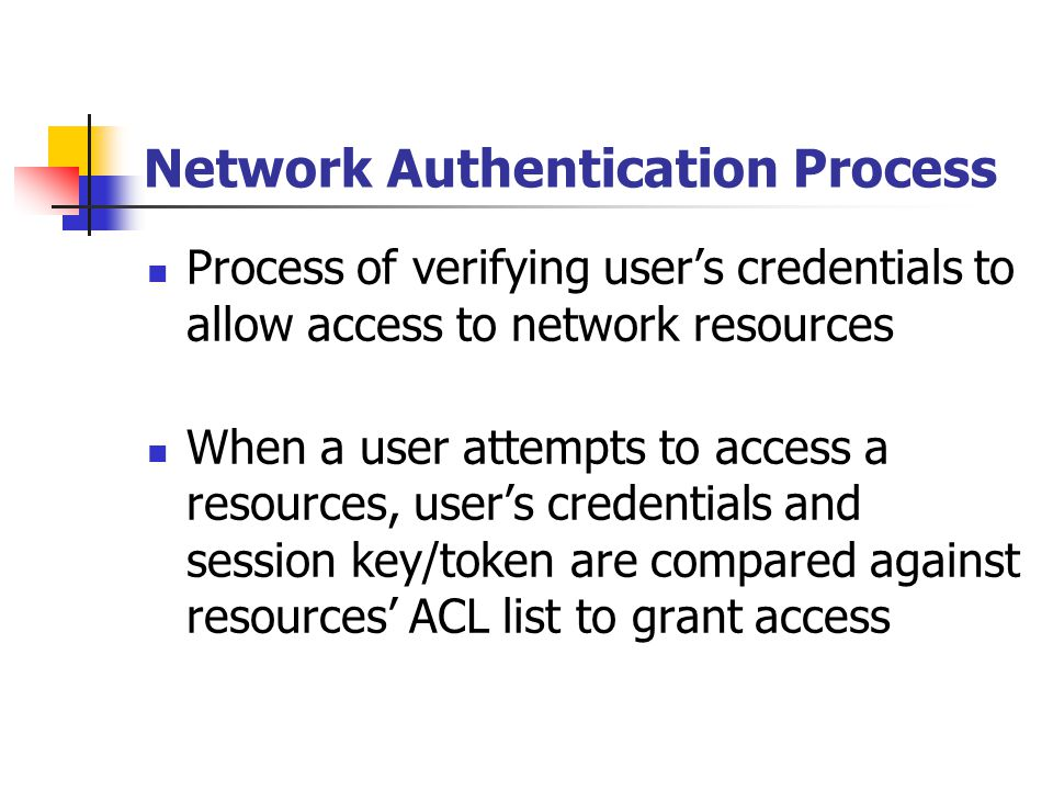 Network Authentication Process